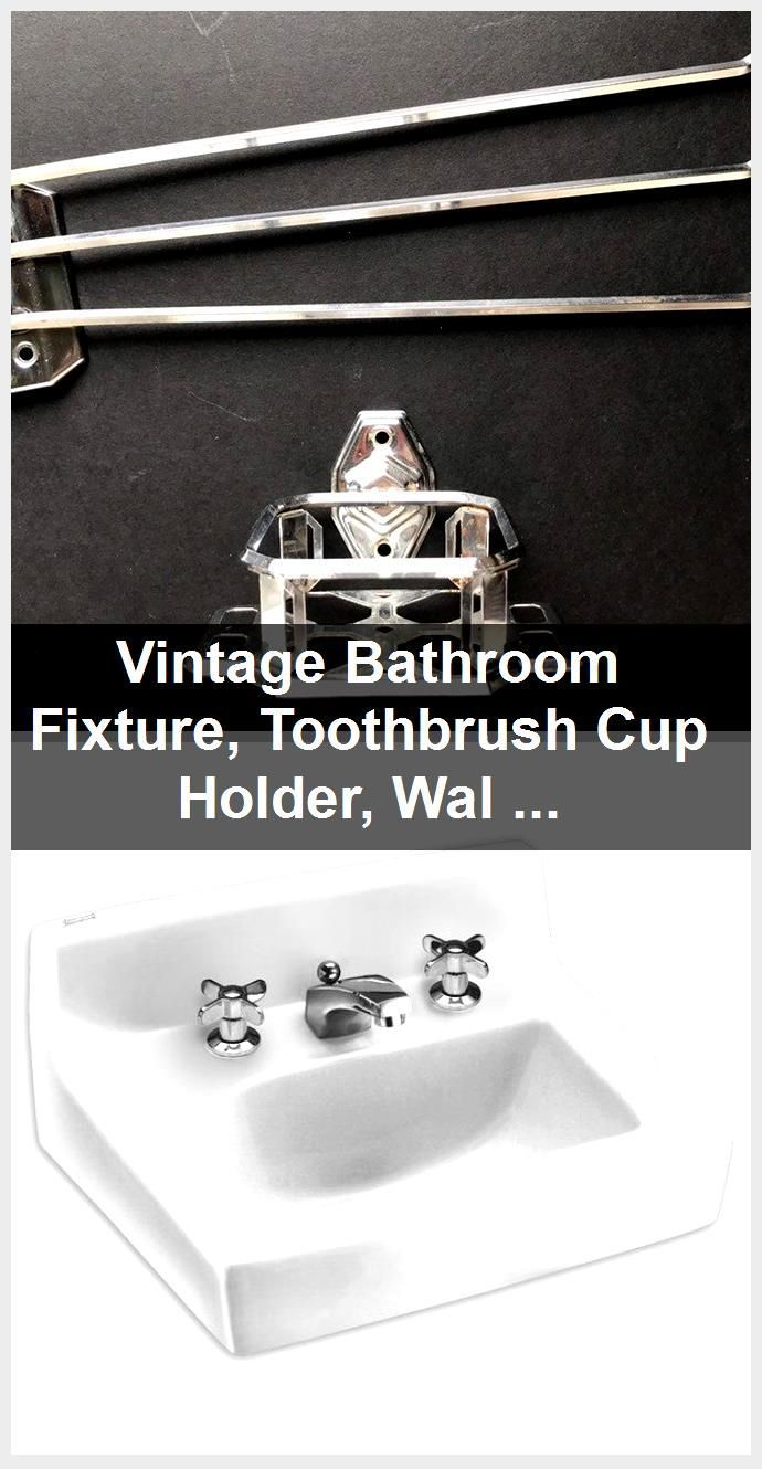Photo of Vintage Bathroom Fixture, Toothbrush Cup Holder, Wall Mount Chrome, Tiny Home RV,  #Bathroom …