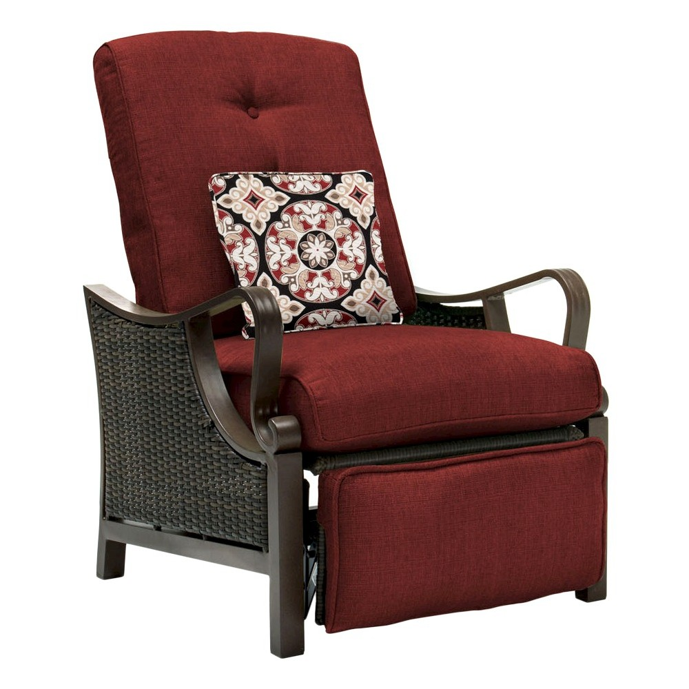 Luxury Recliners hanover outdoor ventura luxury recliner - crimson red | products