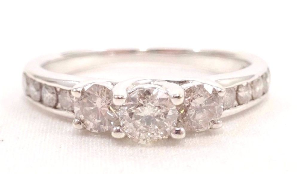 10k Solid Gold Diamond Engagement Ring 1 Carat Shine Can Be Sized Free Shipping