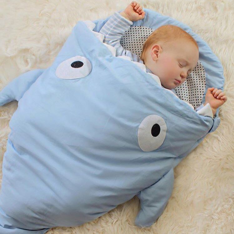 Shark Pillow Sleeping Bag clever shark and whale sleeping bags that adorably swallow small