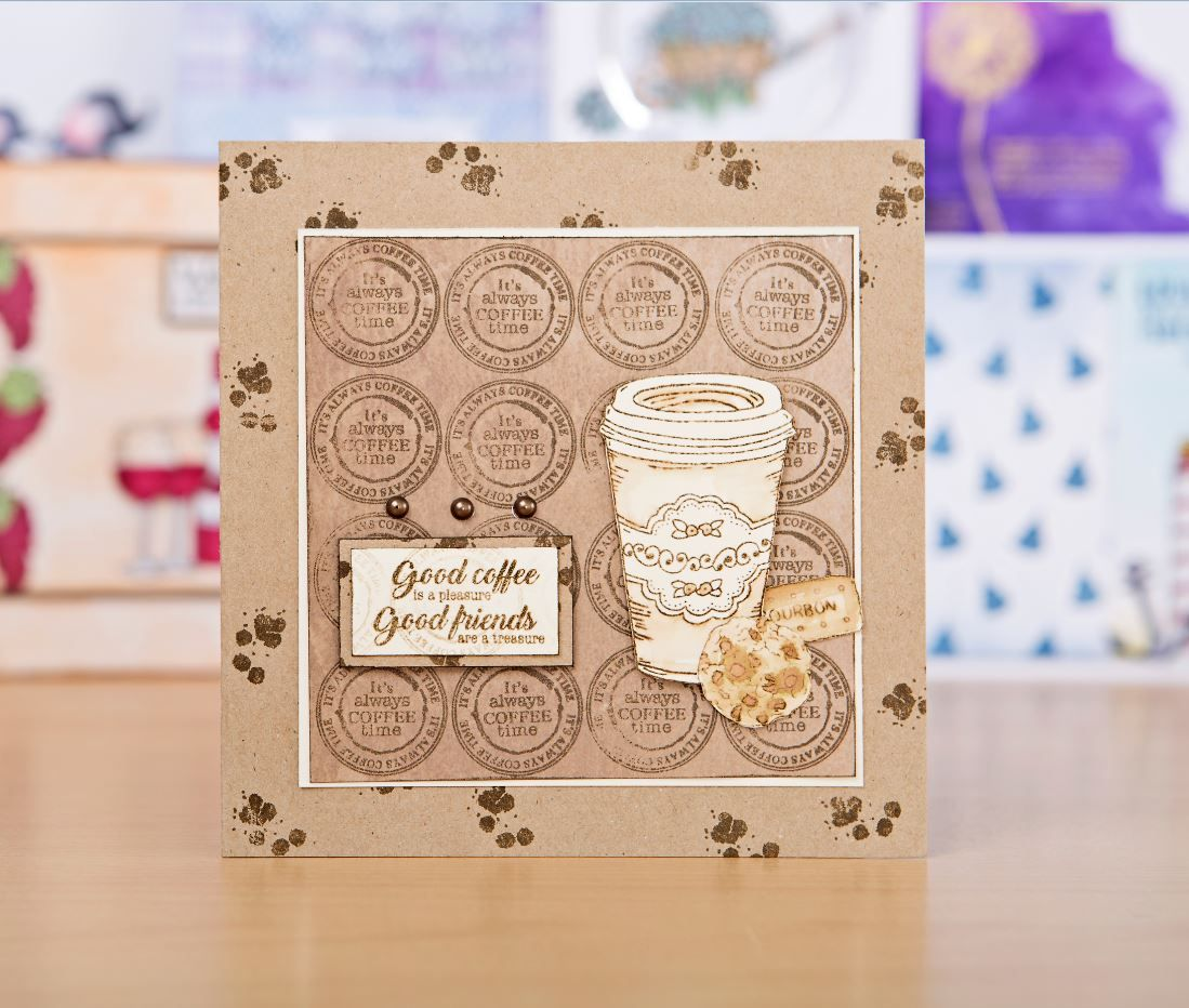 Papercraft Card Making Ideas Part - 41: Gorgeous Coffee Stamp Design From The For The Love Of Stamps Ultimate  Bundle / Stamping / Cardmaking / Papercraft / Scrapbooking / Stamps