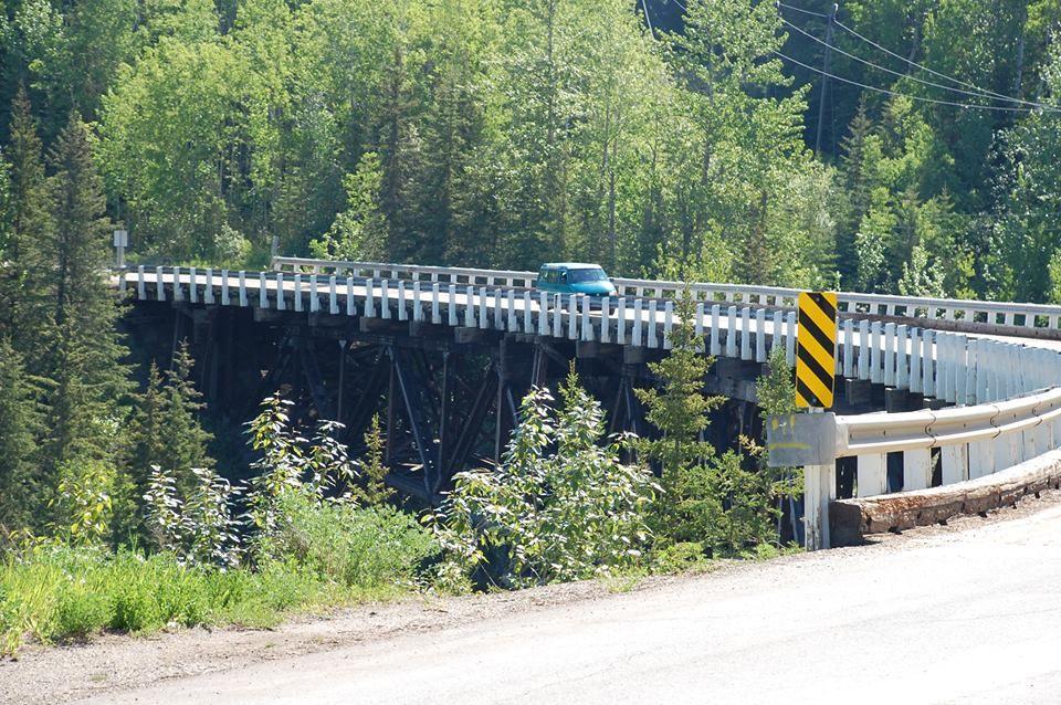 Historic Kiskatinaw River Bridge, 17 miles north of Dawson