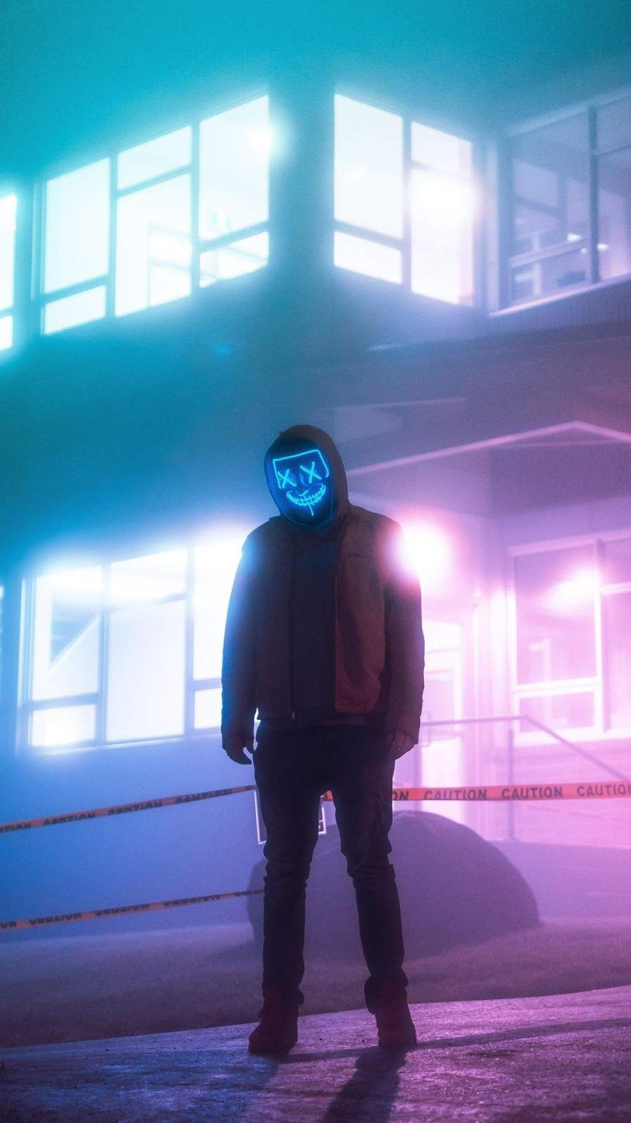 Night Purge Masked Guy iPhone Wallpaper from iphoneswallpapers.com