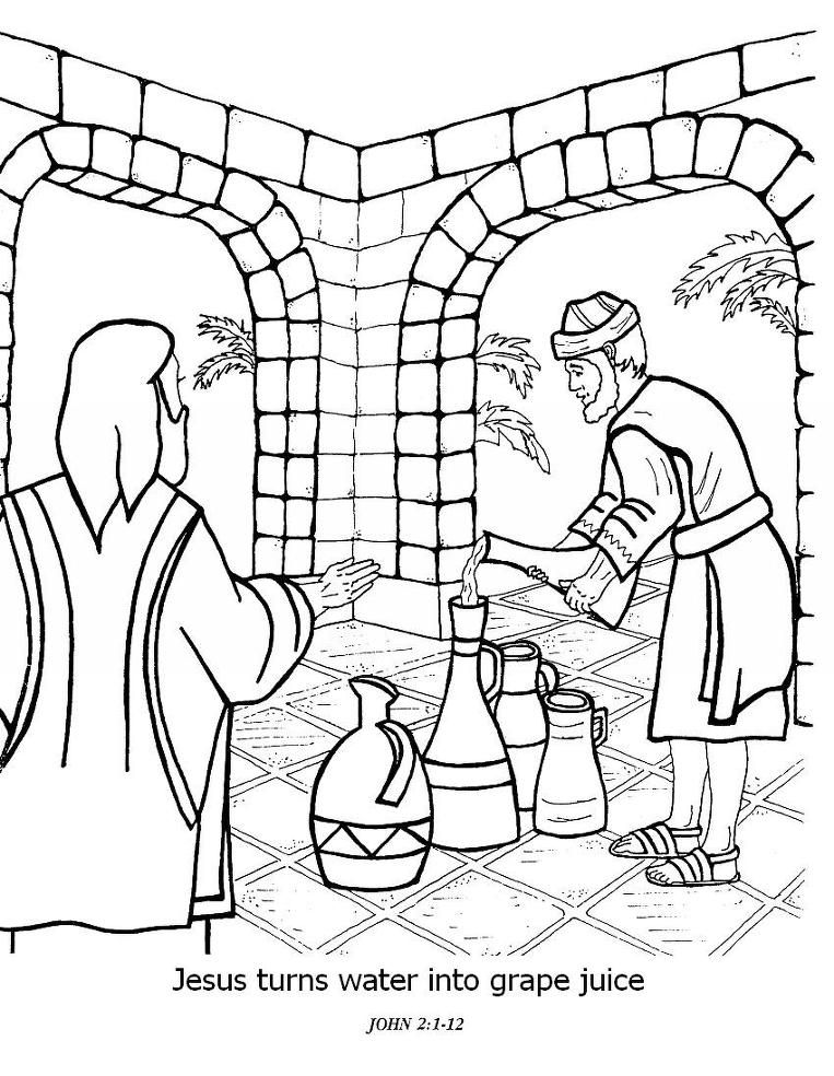 Miracle At Marriage Colouring Pages Page 2 Coloring Pages