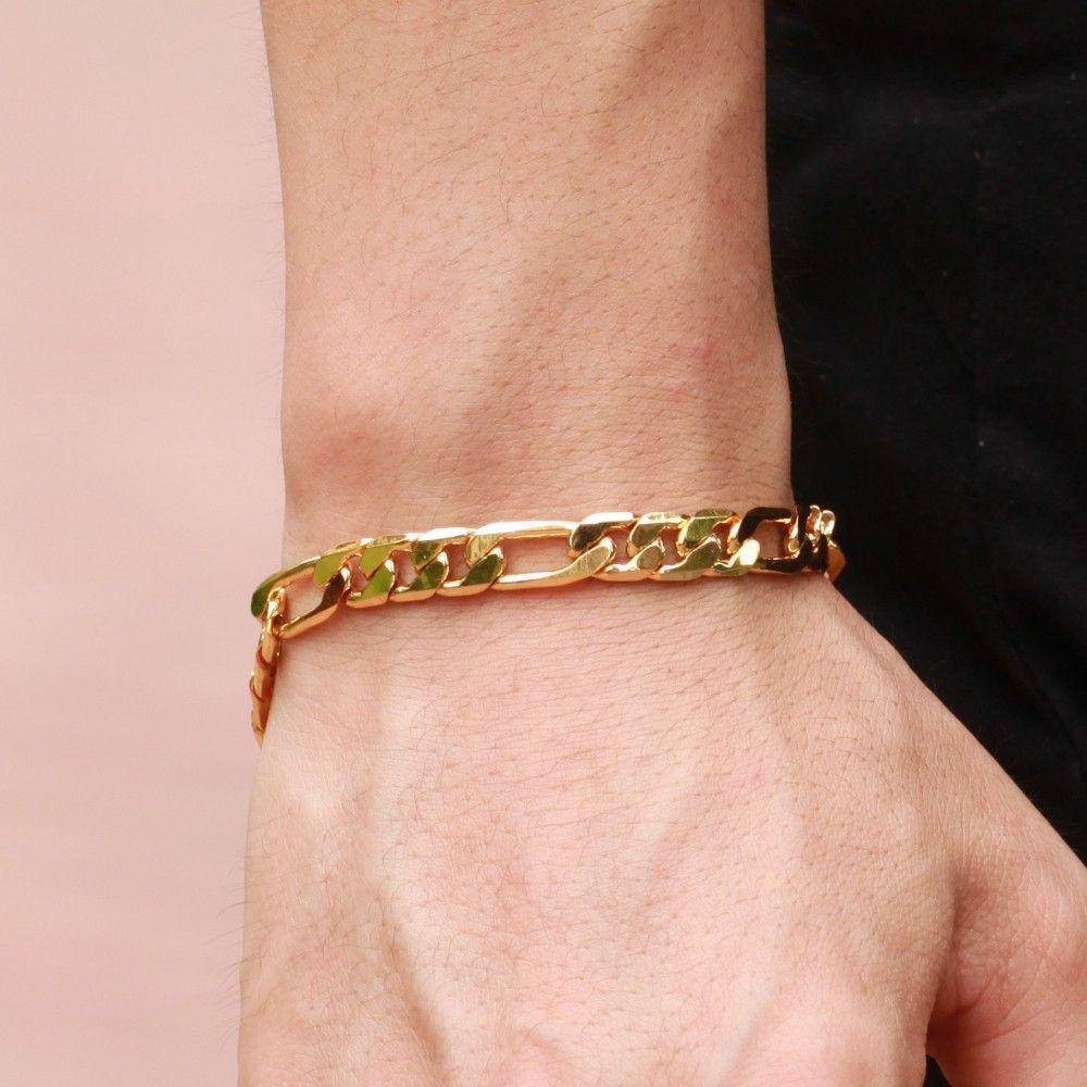 Mens gold bracelet jewels pinterest bracelets jewelry and