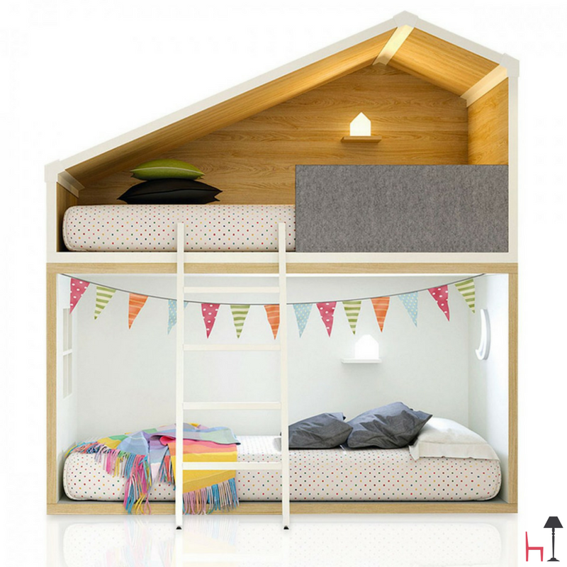 The Cottage bunk bed by Lagrama boasts an innovative ...
