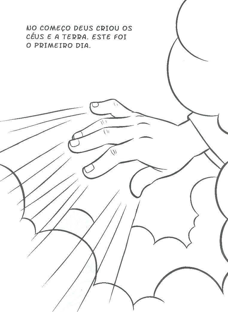 Historia Da Criacao Para Colorir Com Imagens Dias Da Criacao