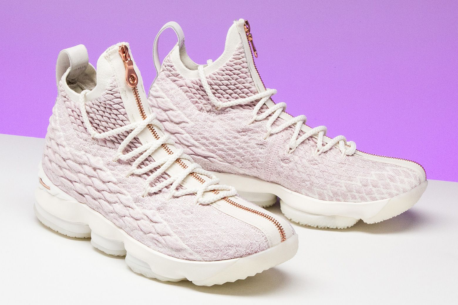 "100% authentic 5fbbb beaf3 Rate the Kith x Nike LeBron 15 ""Rose Gold"" from 1 - 10."