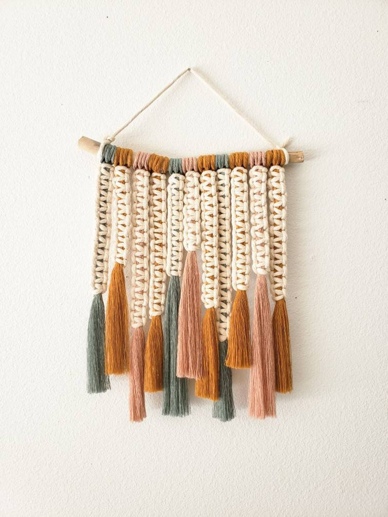 I Feel It All Customizable Multicolor Macrame Wall Hanging Etsy In 2020 Macrame Wall Hanging Diy Macrame Wall Art Yarn Wall Art