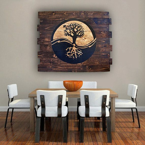 Wall Decor Signs For Home Simple Yin Yang Tree Of Life On Wood Handmade Wood Wall Art Wooden Review
