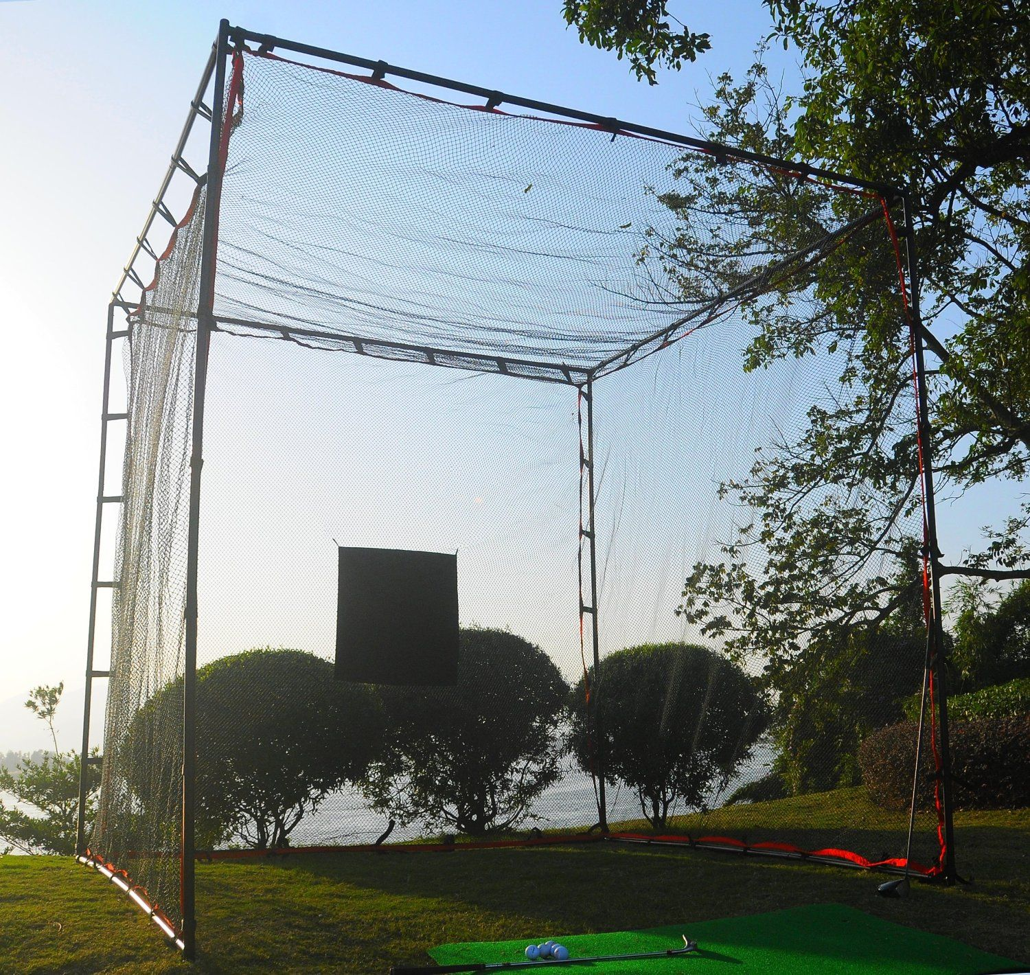 Proadvanced Mastercage Golf Practice Cage With Hitting Target Golf Net Golf Practice Golf Hitting Net