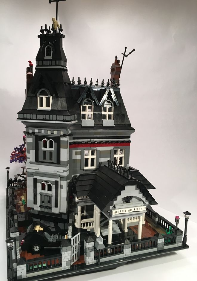 Addams Family Mansion Lego Mansion Lego Haunted House Lego