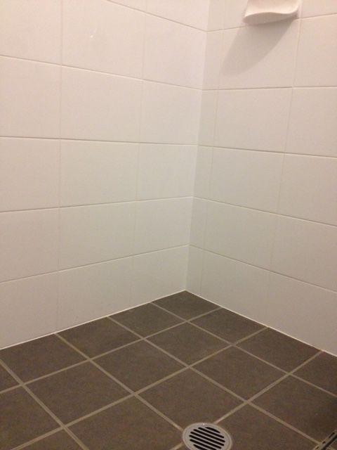 Floor 200 X 200mm Moon Grey 301702 Walls 300 X 200mm White Gloss 500030 Modern Tiles Bathroom White Gloss
