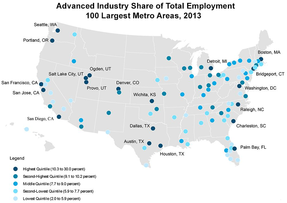 Fastest growing industrial areas of the U.S. Mechanical