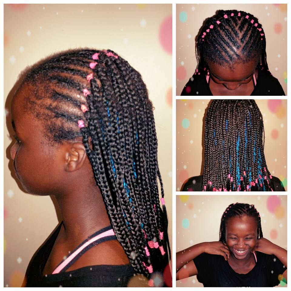 My beauty got new hair yesterday cornrows and box braids with my beauty got new hair yesterday cornrows and box braids with black and blue pmusecretfo Images