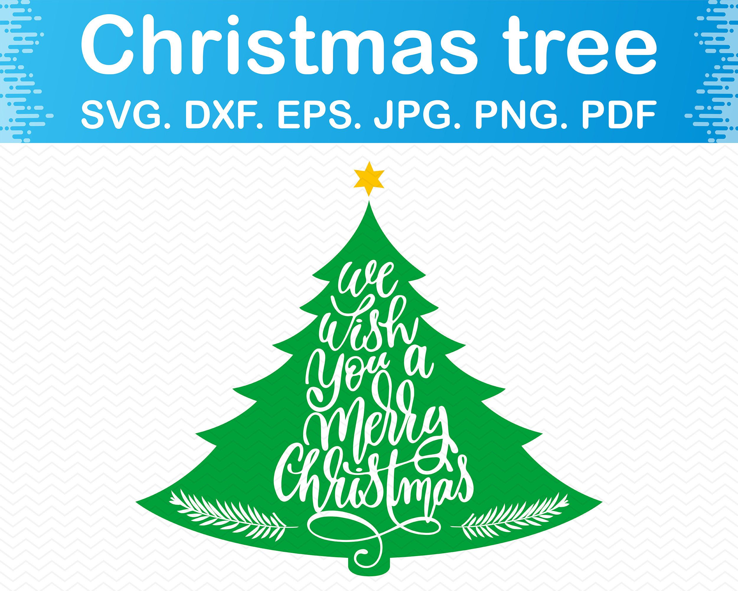 Merry Christmas Tree Svg Merry Christmas Trees Png Merry Etsy In 2020 Tree Svg Christmas Clipart Christmas Svg