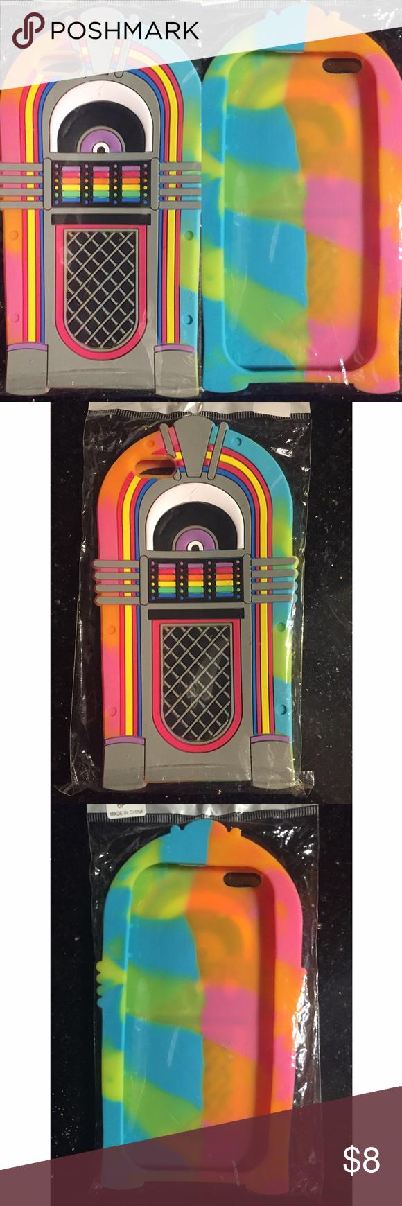 Silicone Rainbow Jukebox iPhone 6 Plus Case NWT Iphone 6
