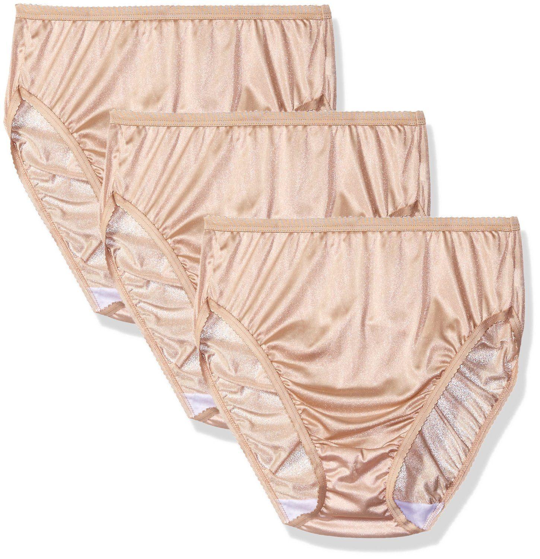 da90b9ac3d2 Legs Open · Black · Shadowline Women s Panties-Hi Cut Nylon Brief (3 Pack)