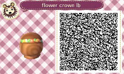Animal Crossing Qr Code Flower Crown Qr Codes Animal Crossing