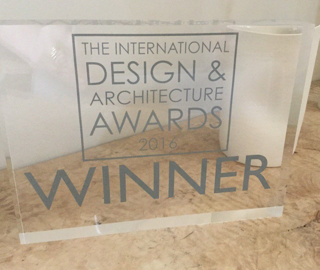 Winning at The International Design & Architecture Awards at The Dorchester in London 2016 for Best Home Cinema.