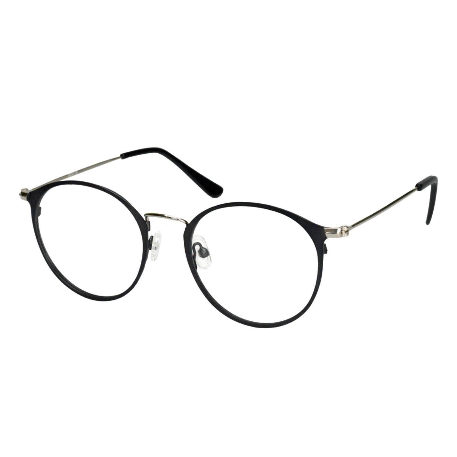 Oculos Armacao De Grau Isabela Dias Redondo Retro 7016 Preto Em