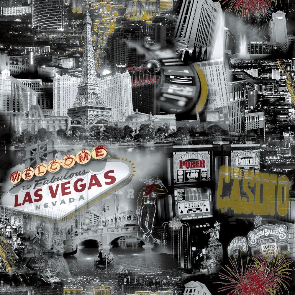 Nice Grandeco Ideco Las Vegas Black White Photographic Casino Wallpaper  POB 35 01 4