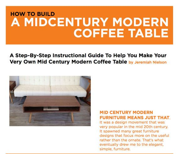 Plans To Build A Mid Century Modern Coffee By