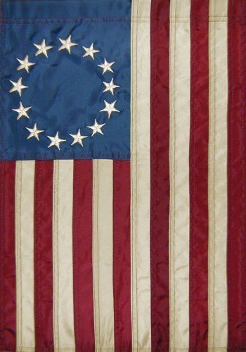 Applique Betsy Ross American Flag Mini Garden Flag 12 X 18 By Custom Decor 8 95 Original Artwork Is Rep Patriotic Garden Flag Betsy Ross Flag Flag Decor
