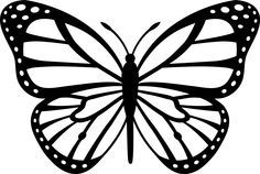 Butterfly Stencils Free Butterfly Black White Image Vector