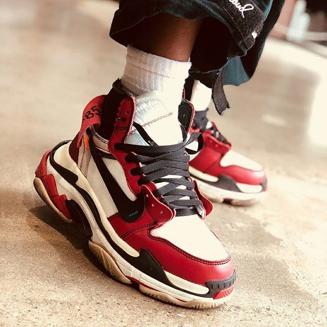 c1f98a29d87e What if Off-White and Balenciaga made a colab  Check out these Triple S