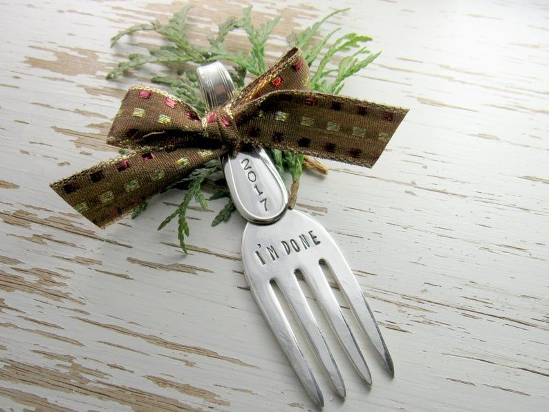 Im done retirement fork retirement gift hand stamped