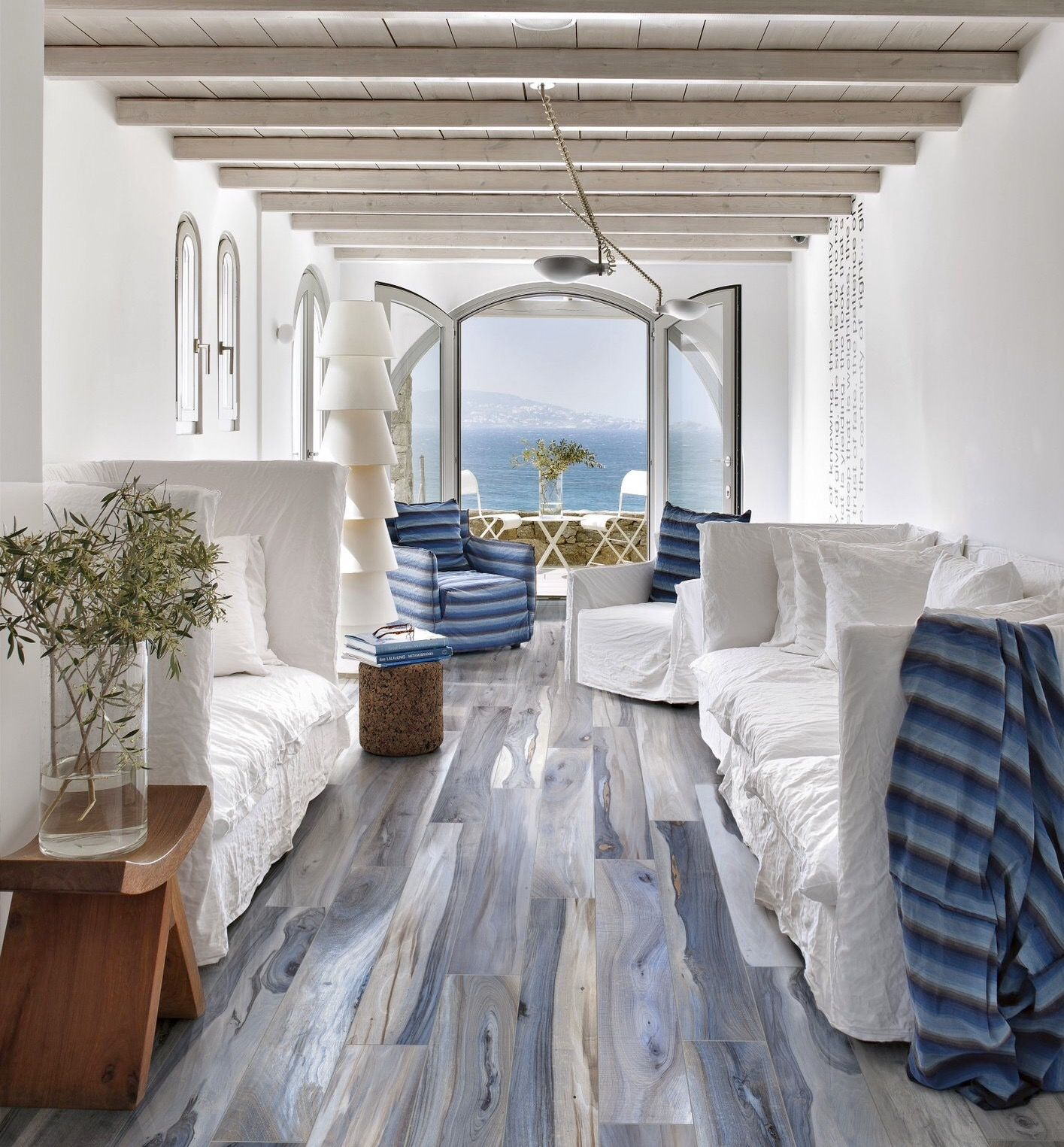 Living For The Blue In The Woodgrain Of This Flooring Home Wood Look Tile Home Decor