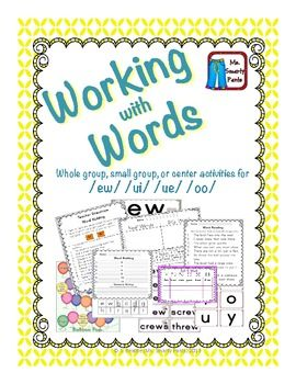 Working with Words ew ui oo u | 1st Grade -- $5 & Under