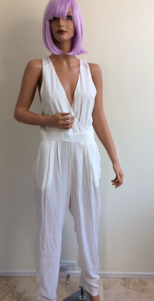 1bb33db7791 Blessed are the Meek white hot jumpsuit size 2 super sexy