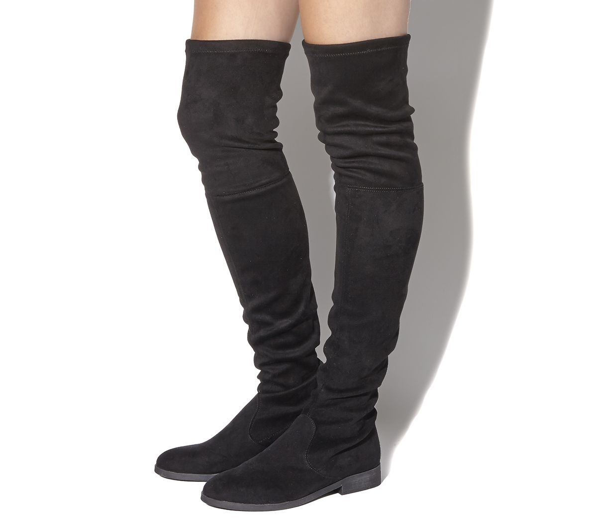 Black Office Eden Stretch Over The Knee Boots From Co Uk