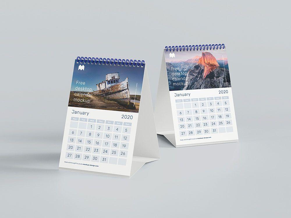 Free A5 Desk Calendar Mockup Mockuptree Desk Calendar Mockup Desk Calendars Mockup Design