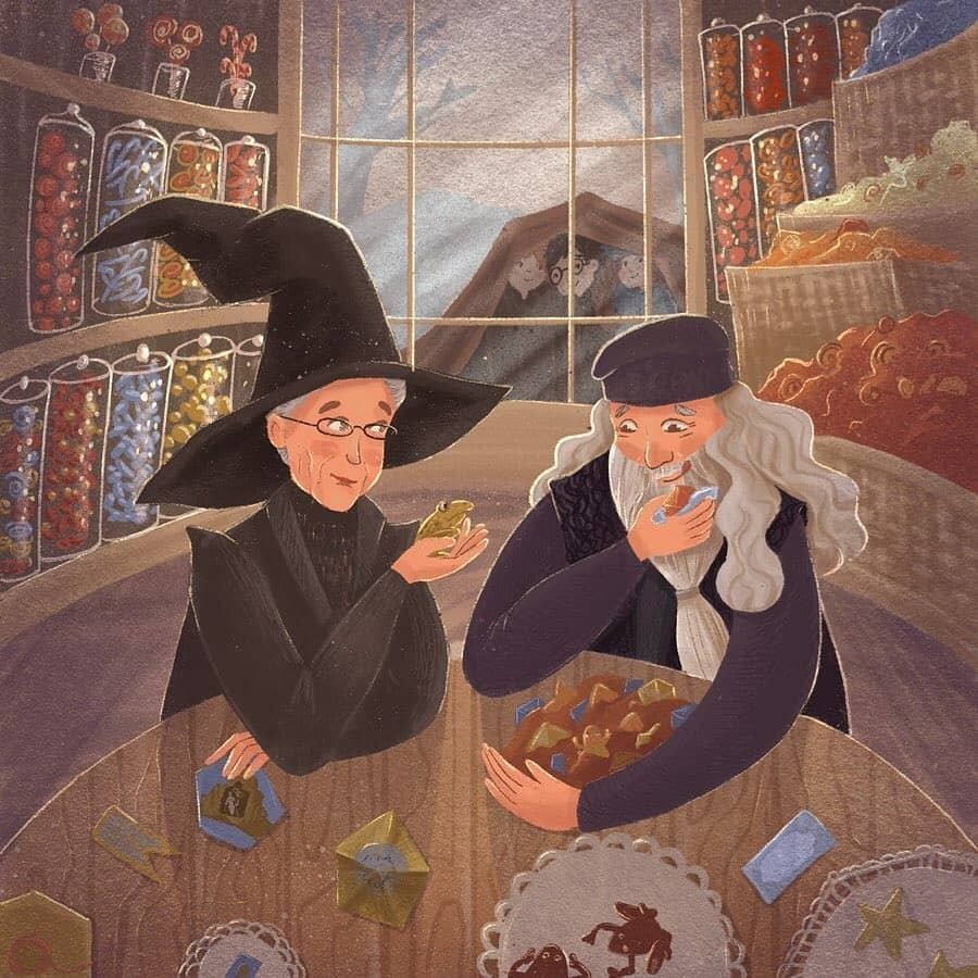 Who do you prefer, Minerva McGonagall or Albus Dumbledore? ? | Harry potter  illustrations, Harry potter art, Harry potter artwork