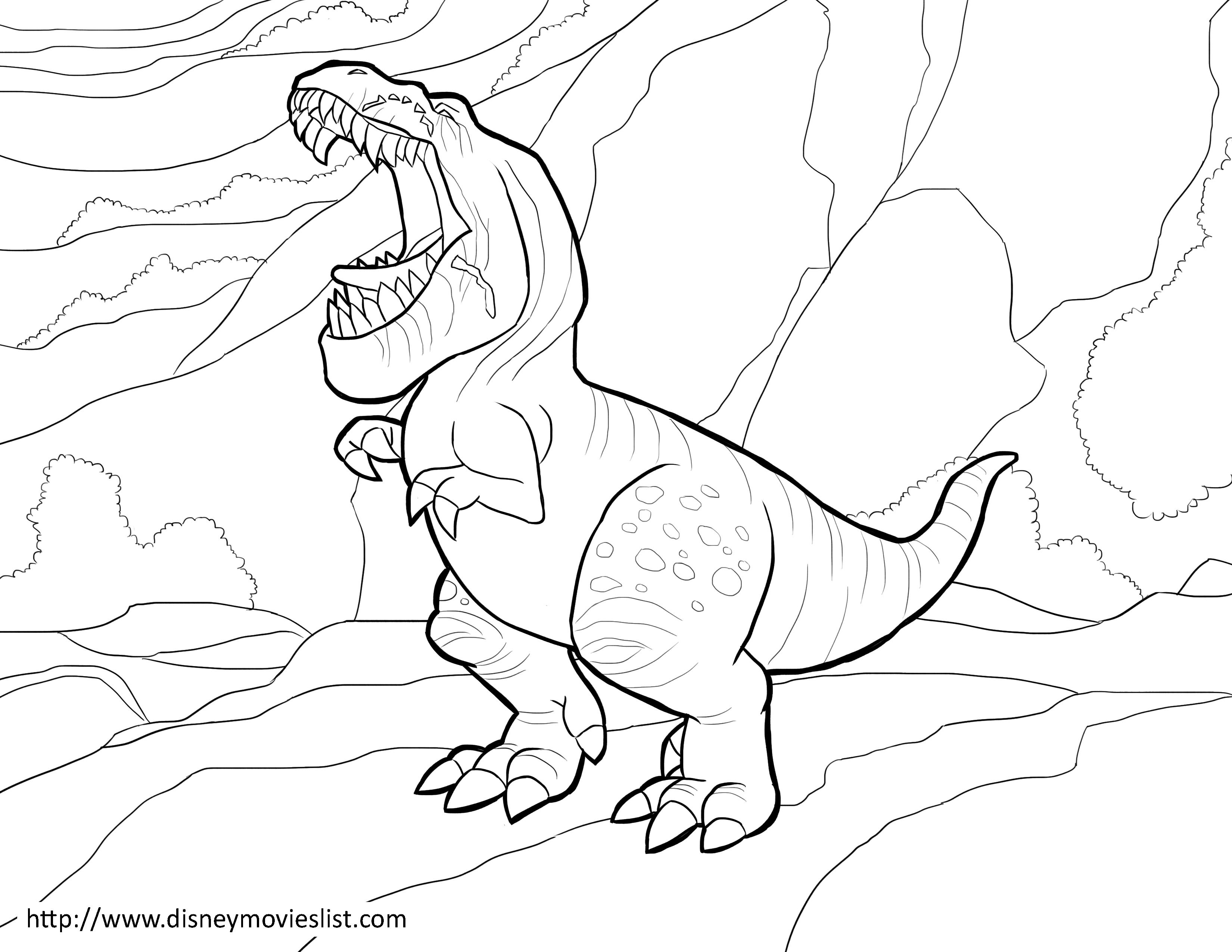 disneys the good dinosaur butch coloring page