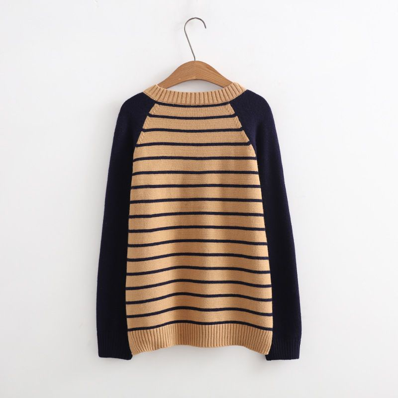 5e4900f2c0d8 Buy Plum Forest Ribbed Panel Long-Sleeve Knit Top at YesStyle.com! Quality