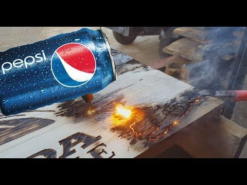 Wood Burning with Electricity and Pepsi! Handheld