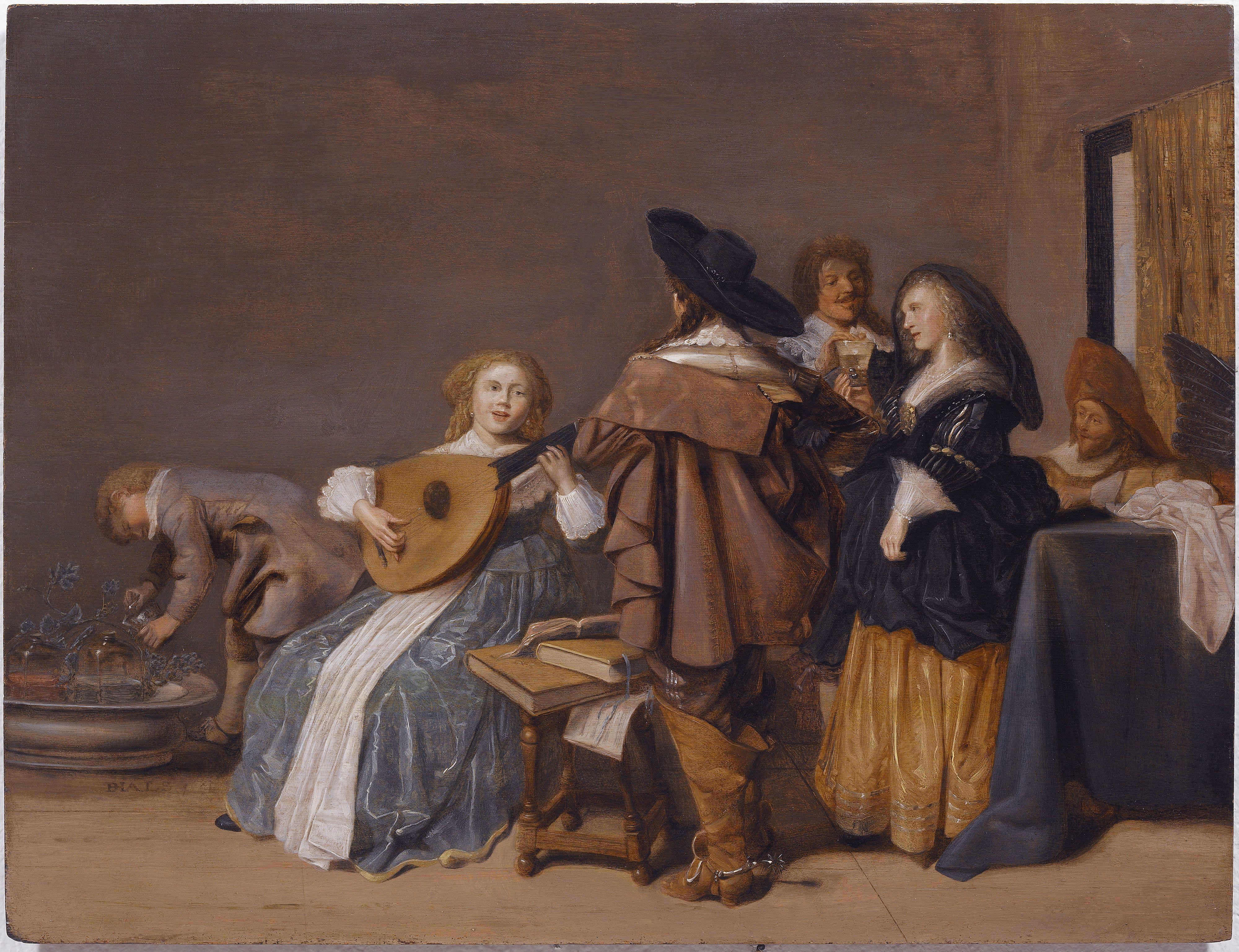 Escena galante de Dirck Hals. #Pintura de la Escuela Holandesa del ...