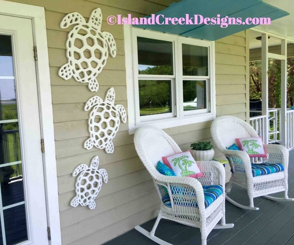Sea Turtles Wall Decor For Your Porch Made By Island