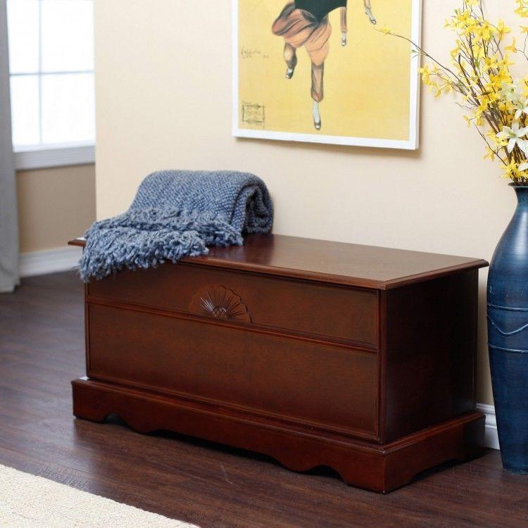 Cedar Hope Chest Home Cherry Finish Wood Bedroom Storage ...