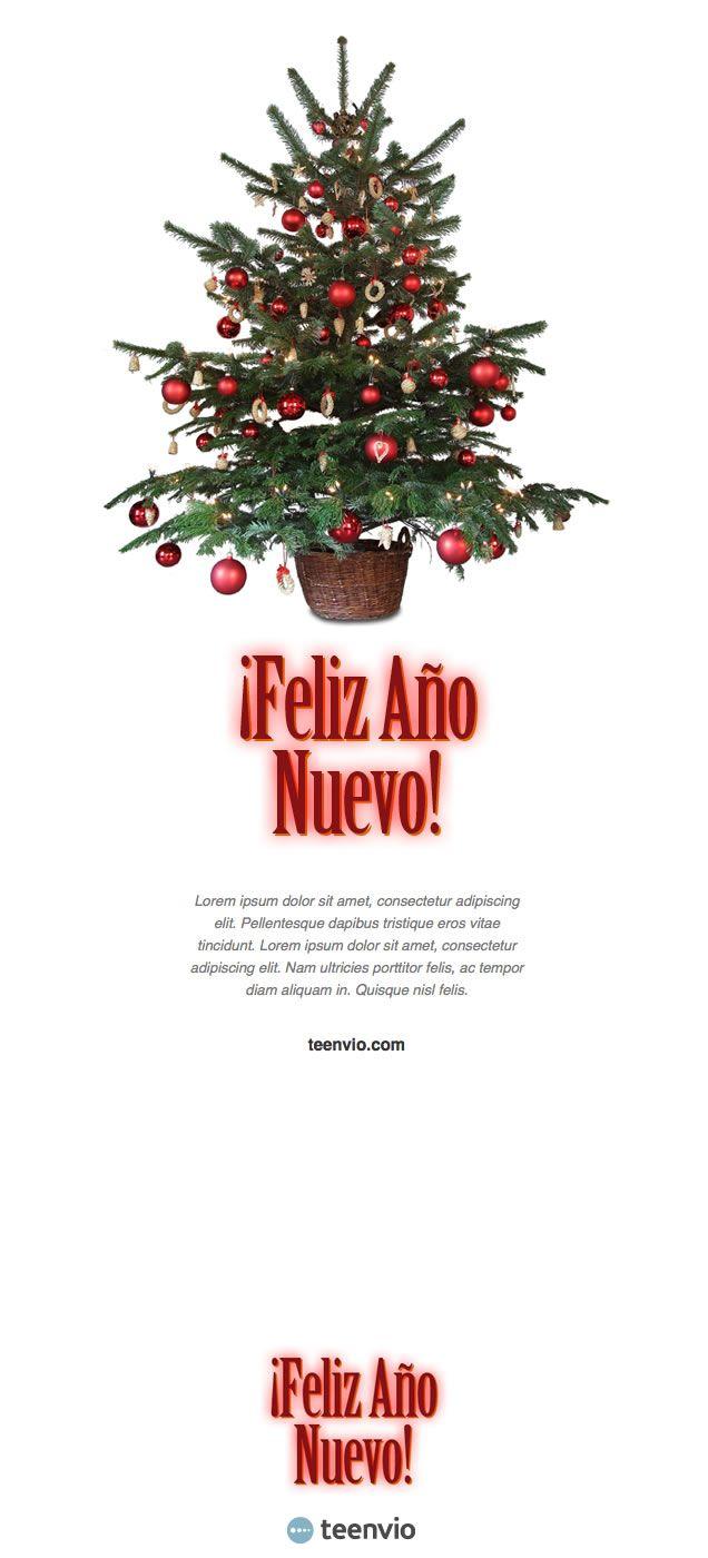 Feliz Año Nuevo, plantilla HTML gratis para Newsletter en email ...