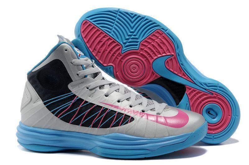 Cheap Discount Nike Lunar Hyperdunk 2013 Wolf Grey Thunder Blue Pink Men's  Basketball Shoes For Sale