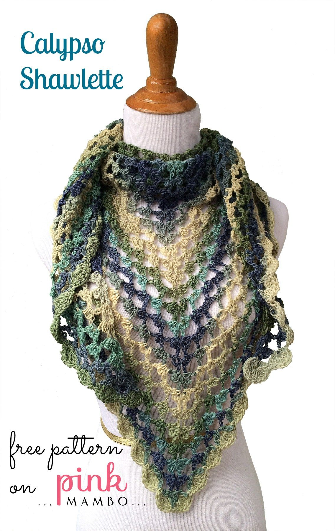 Calypso Crochet Shawlette Crafts Pinterest Häkeln Tuch Häkeln