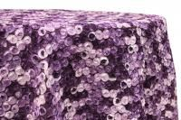Multi-colored rosette tablecloth or runner...we rent :)