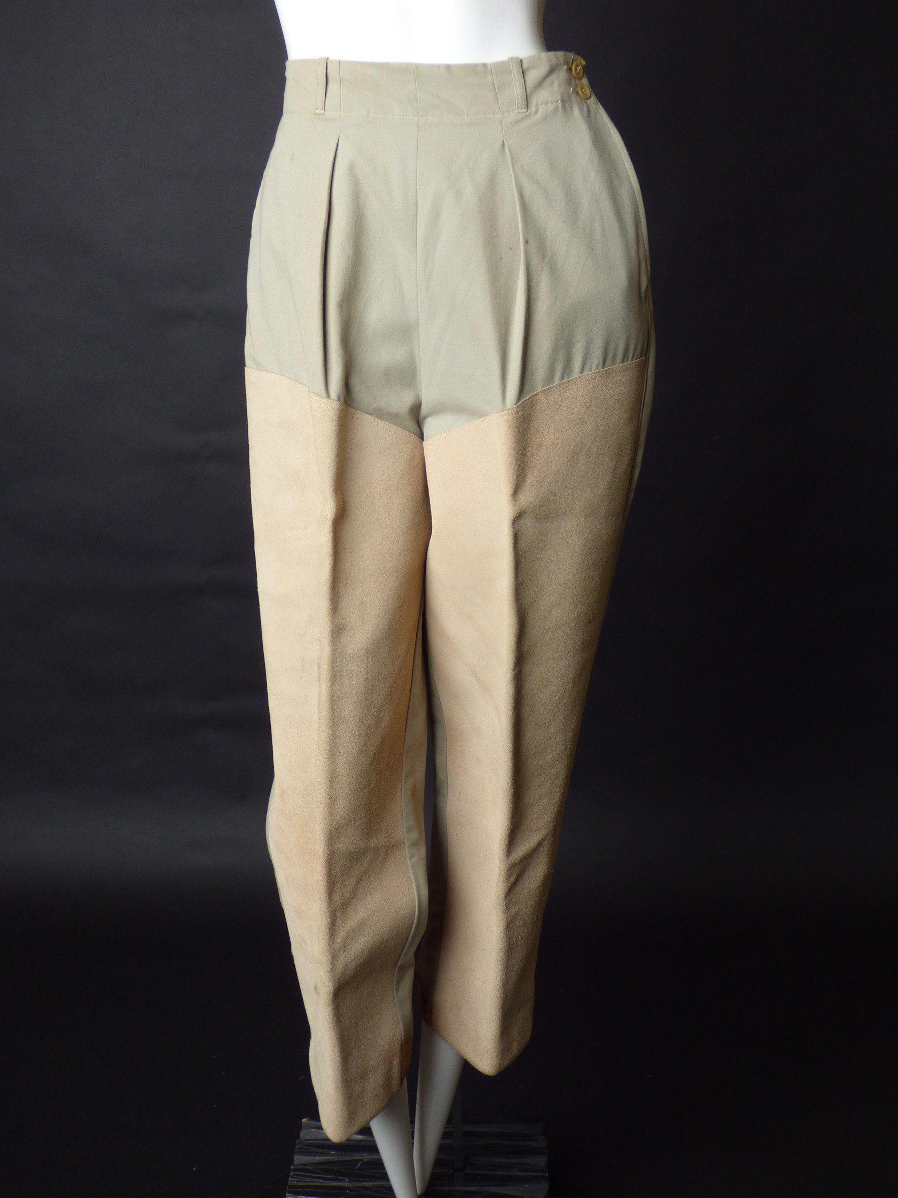 S Khaki Cotton u Suede Hunting Pants Size