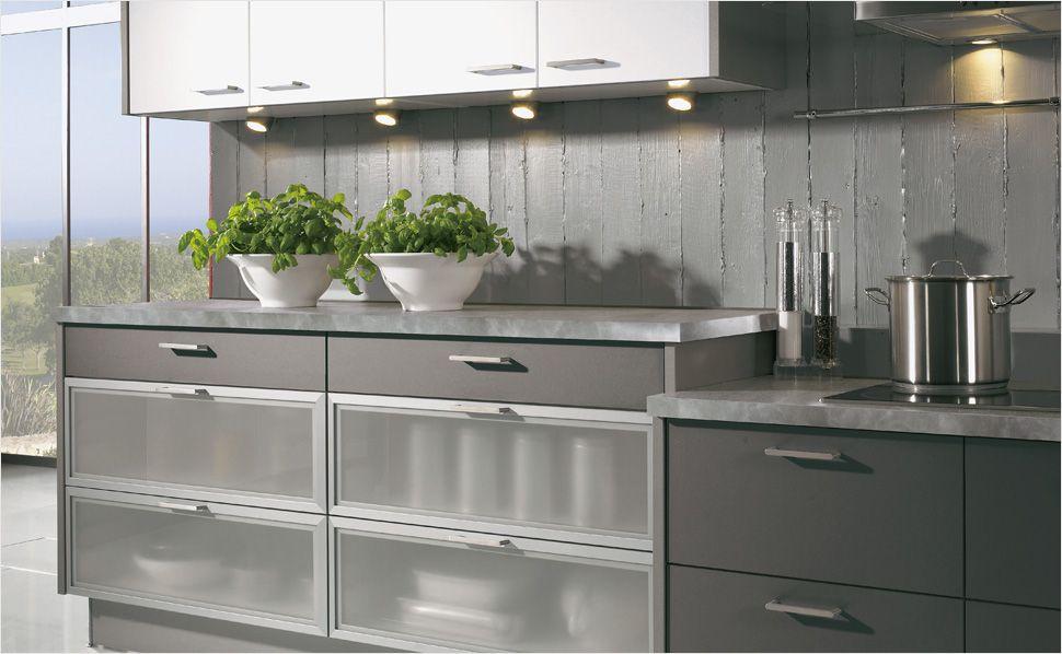Modern Two-Tone Kitchen Cabinets #02 (Alno, Kitchen-Design - kchenwand fliesen wei anthrazit