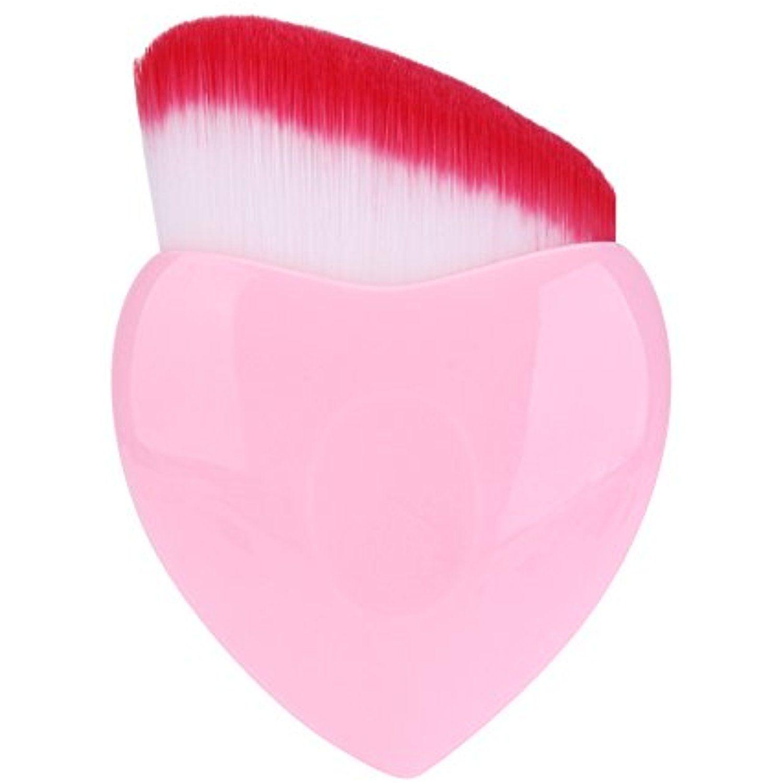 Kingyuan Heart Shaped Makeup Brush Foundation Brush Powder Blush Cosmetic Brush Set Oblique Hea Cosmetic Brush Set It Cosmetics Brushes It Cosmetics Foundation